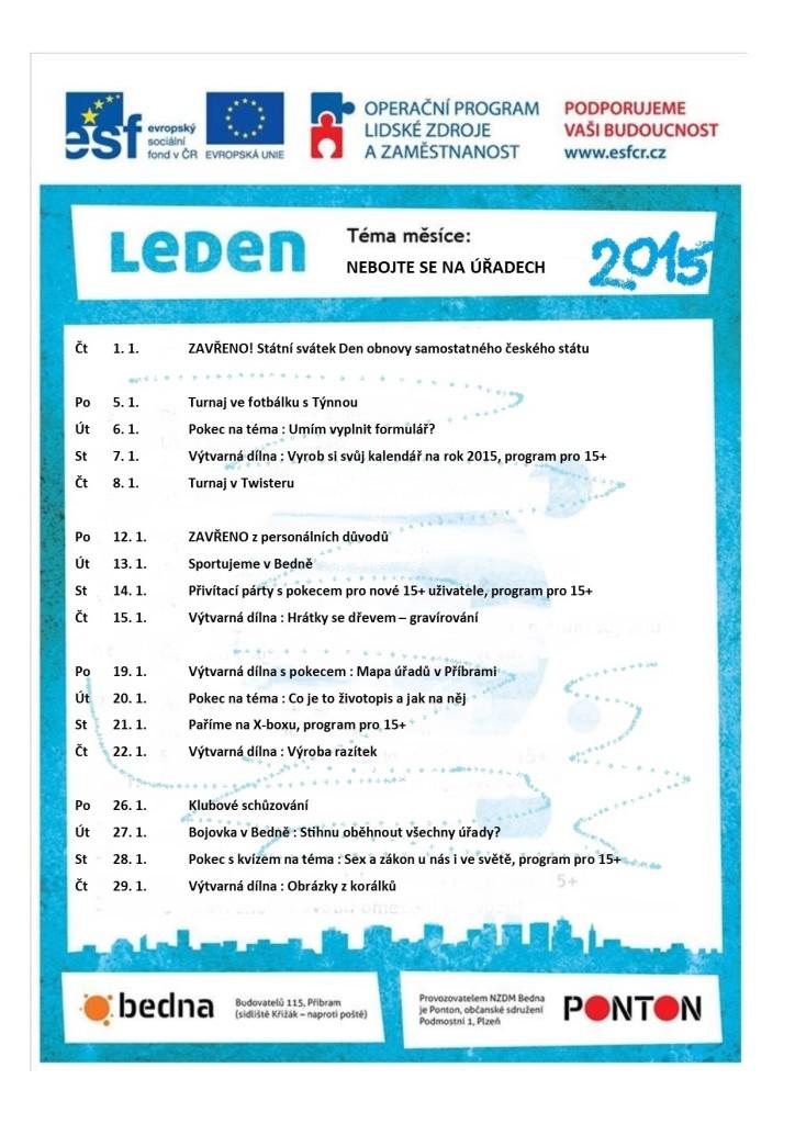 PROGRAM LEDEN 2015