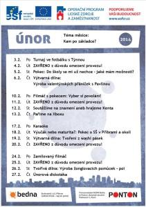 program únor 2014