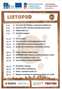 program listopad 2013